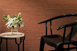 Textured wallcovering via Wall Street Journal on Slipcovers for your walls, casartblog