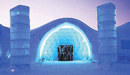 ice hotel on slipcovers for your walls