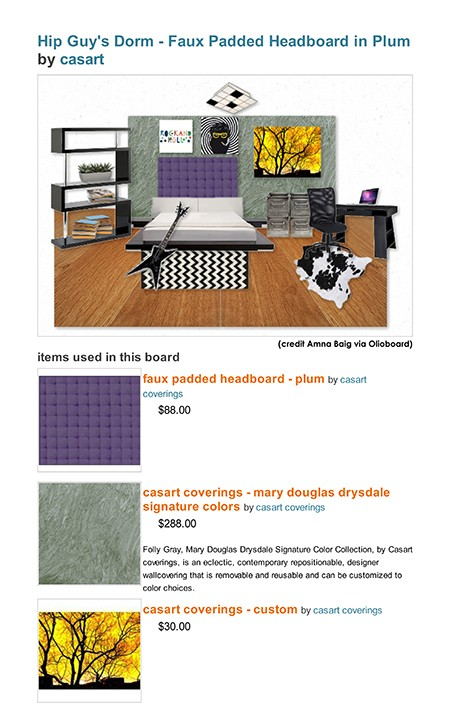 Casart coverings Olioboard on Slipcovers for your walls, casartblog