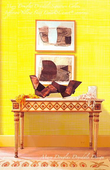 Mary Douglas Drysdale Signature Colors - Jefferson Yellow Faux Linen - Casart coverings