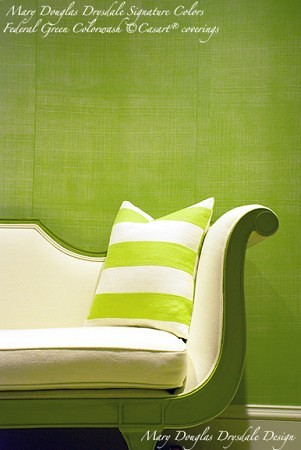 Mary Douglas Drysdale Signature Colors - Federal Green Faux Linen - Casart coverings