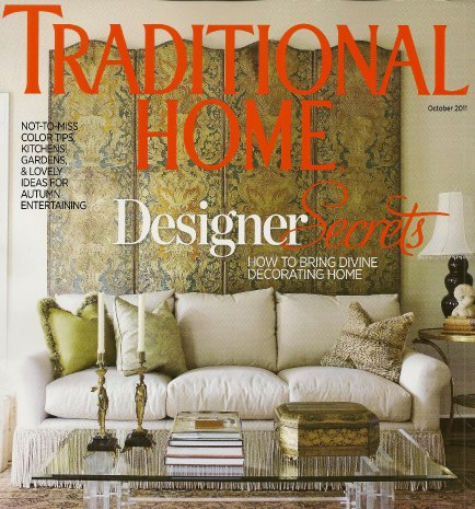 Traditional Home - October 2011, as seen on Slipcovers for your walls, casartblog