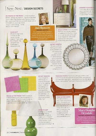 Design Secrets from Mary Douglas Drysdale featured in Traditional Hom,e as seen on Slipcovers for your walls, casartblog