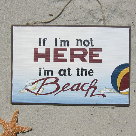 at_the_beach_sign1 via home stories A 2 Z, via Slipcovers for your walls, casartblog