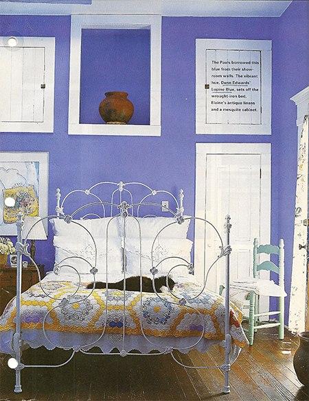 Bellflower via Elle Decor, as seen on Slipcovers for your walls, casartblog