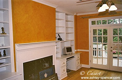 Orange Colorwash Project, as seen on Slipcovers for your walls, casartblog