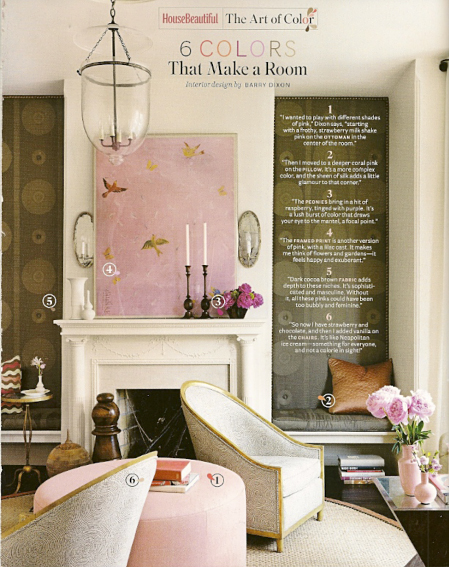 Barry Dixon - House Beautiful the art of color, as seen on Slipcovers for your walls, casartblog