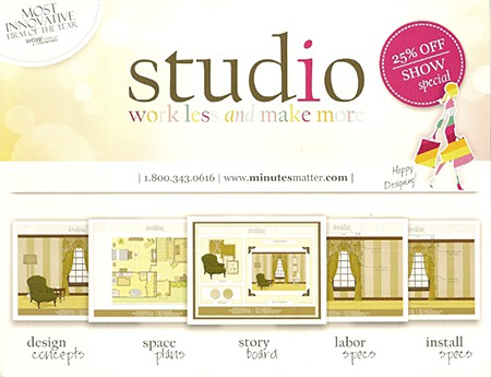 Studio M - Minutes Matter Interior Design Software, as seen on Slipcovers for your walls, casartblog
