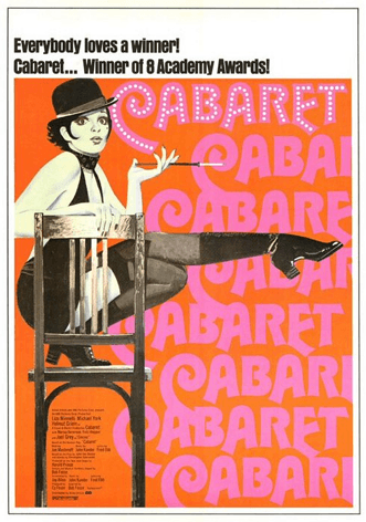 Cabaret poster via Daily Loaf, as seen on Slipcovers for your walls, casartblog