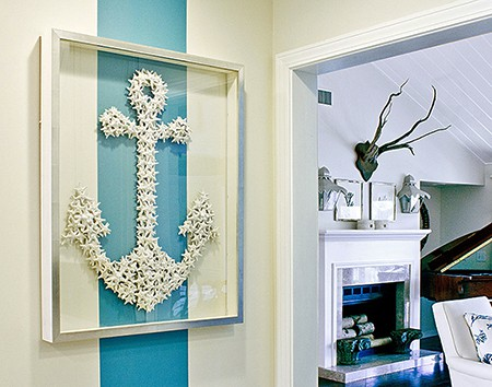 Photo credit Karen Robertson Collection_anchor-aqua-stripe, as seen on Slipcovers for youre walls
