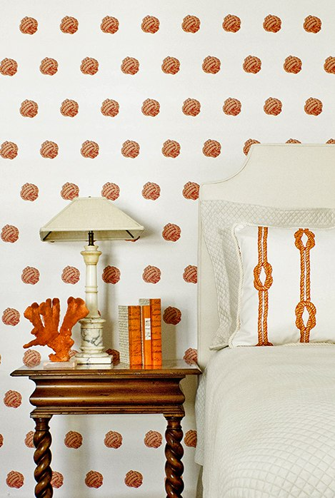 KRC_orange_polkadot_knot_casartblog, as seen on Slipcovers for your walls