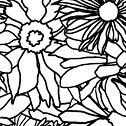 Casart_FlowerPower_outlines detail, as seen on Slipcovers for your walls, casartblog