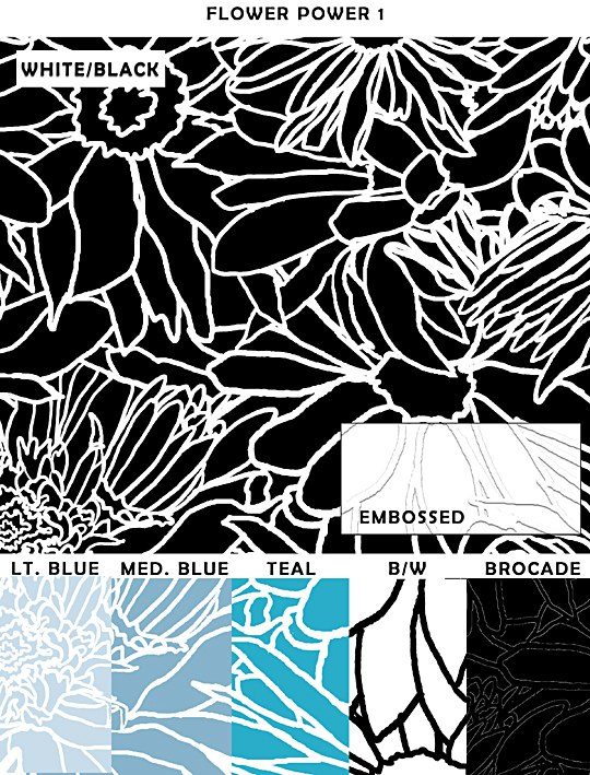 Casart coverings Flower Sample, as seen on Slipcovers for your walls, casartblog