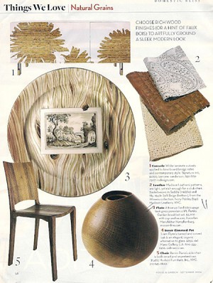 Wood Finishes_House & Garden_sep 2006, as seen on Slipcovers for your walls, casartblog