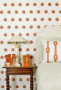 Casart coverings Karen Robertson Collection Orange Monkey Knot_casartblog