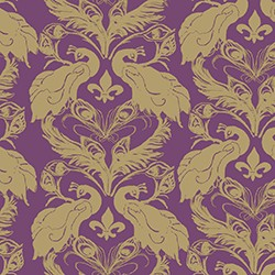 French peacock damask design_casartblog, slipcovers for your walls