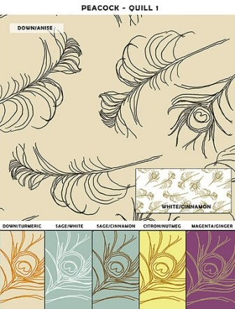 Casart coverings Peacock Quill Design temporary wallpaper_casartblog