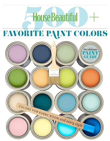 House Beautiful Favorite Paint Color Guide, as seen on Slipcovers for your walls, casartblog