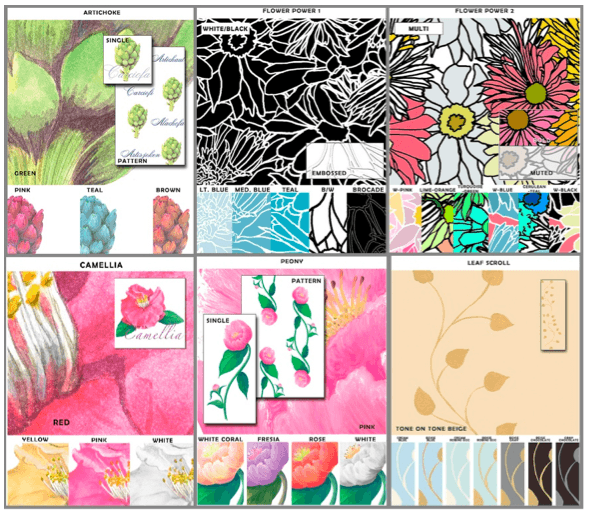 Casart_Botanical Samples, as seen on Slipcovers for your walls, casartblog