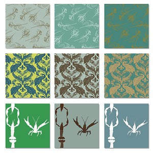 Casart Coverings green figurative designs temporary wallpaper, as seen on Slipcovers for your walls, casartblog