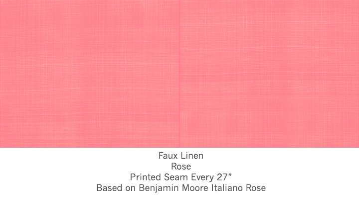Casart Rose Faux Linen, as seen on Slipcovers for your walls, casartblog