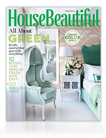 house beautiful-green edition, as seen on Slipcovers for your walls