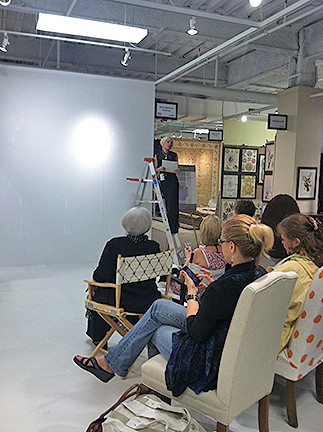 Casart coverings High Point demonstration at Karen Robertson Collection