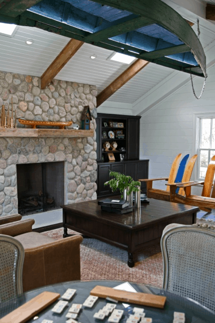 boat hanging_Interior Changes_Houzz, as seen on Slipcovers for your walls, casartblog
