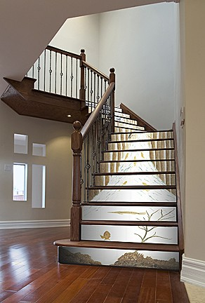 "Use a ""progressive"" scene to highlight your stairs."