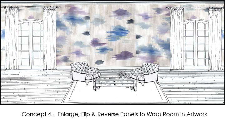 Casart Art Panel_EZ Decorator Room Concept, as seen on Slipcovers for your walls, casartblog