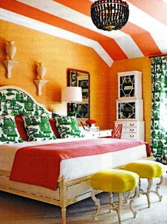 Bedroom with striped ceiling_casartblog