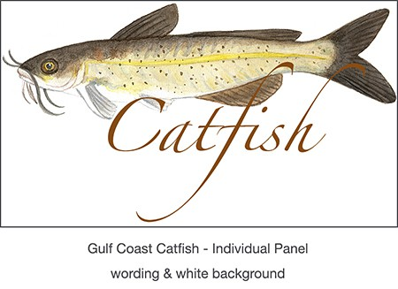 1_casart_Catfish temporary wallpaper panel for Gulf Coast Recovery_casartblog on Slipcovers for your walls
