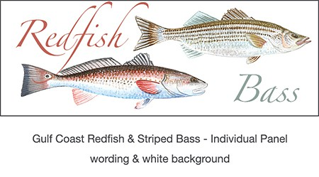 2_casart_RedFish_Bass_wallcovering for Gulf Coast Recovery_casartblog, Slipcovers for your walls