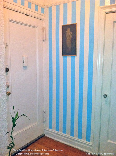 EcoChic_Casart stripes_web_Press_casartblog, seen on Slipcovers for your walls