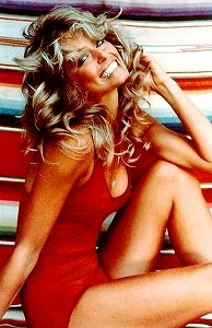 Farrah_Fawcett_iconic_pinup_1976, as seen on slipcovers for your walls, casartblog