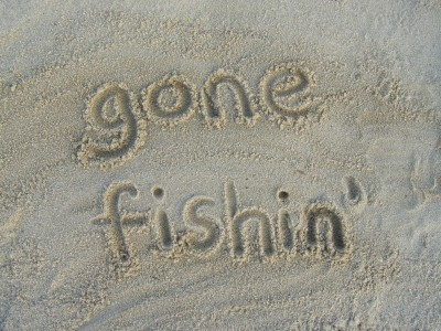gone fishin via writing on the sidewalk, on Slipcovers for your walls, casartblog