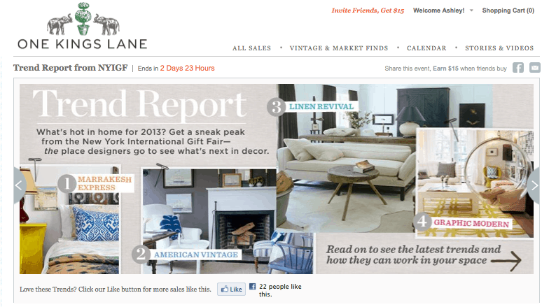 OKL trend report via One Kings Lane, as seen on Slipcovers for your walls, casartblog