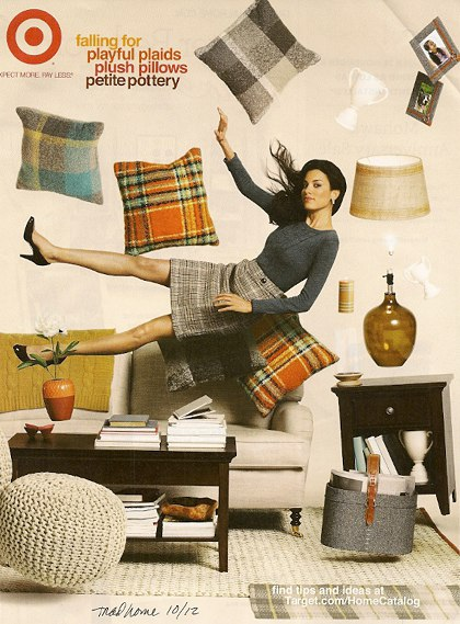 Target Plaid Ad, as seen on Slipcovers for your walls, casartblog