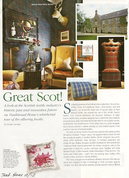 Scottish Plaid_Traditional Home Oct 12, as seen on Slipcovers for your walls, casartblog