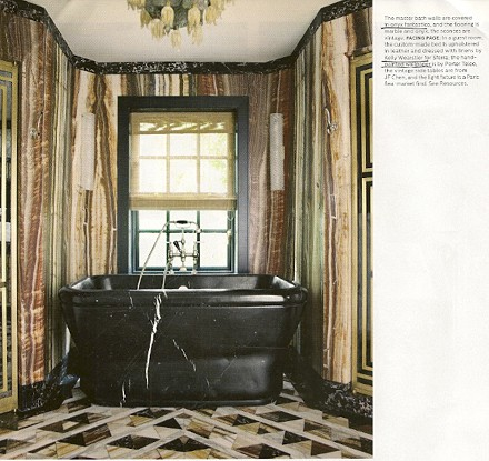 Onyx Fantastic_Kelly Wearstler_Elle Decor, seen on Slipcovers for your walls, casartblog