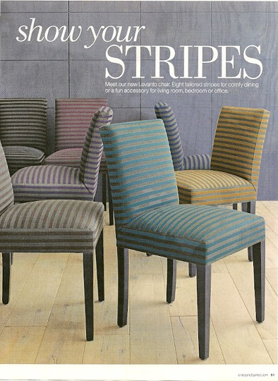 Stripe chairs_Crate&Barrel_fall 2012 catalog, as seen on Slipcovers for your walls, casartblgo