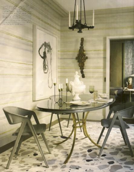 Stripes_Jean-Louis Deniot_Elle Decor 9-12, as seen on Slipcovers for your walls, casartblog