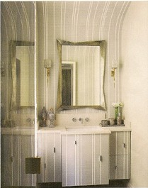 Stripes - Denoit via Elle Decor, seen on Slipcovers for your walls, casartblog