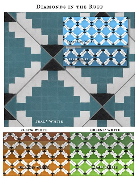 Diamonds-in-Ruff_Casart_Sample_as seen on Slipcovers for your walls, casartblog