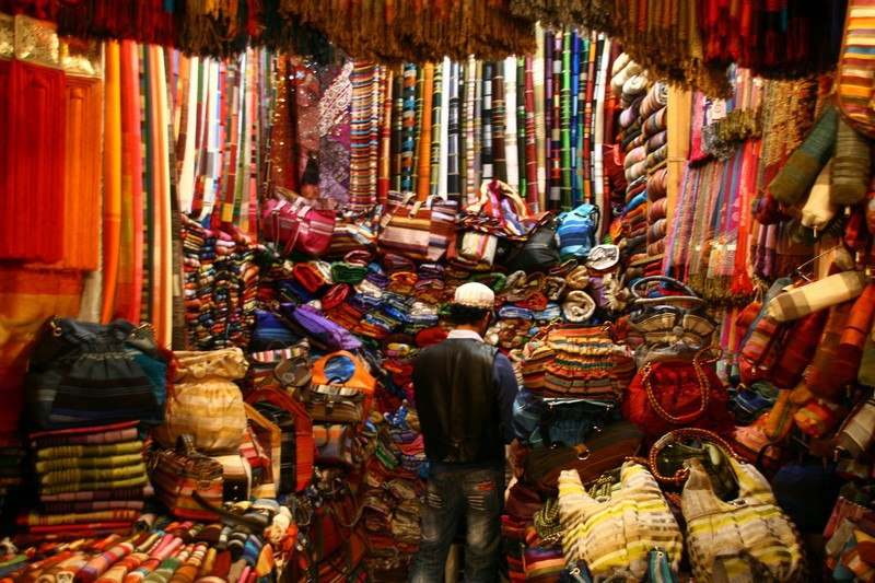 Marrakesh stall as seen on Slipcovers for your walls, casartblog