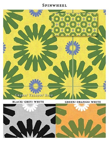 Spinwheel_Casart_Sample_as seen on Slipcovers for your walls, casartblog