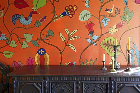 Casart coverings, Kristin Nicholas Garden Mural on Slipcovers for your walls, casartblog
