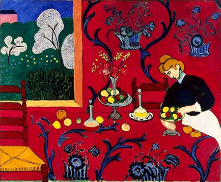 Casart coverings shows henri-matisse-the-dessert-harmony-in-red-on Slipcovers for your walls, casartblog