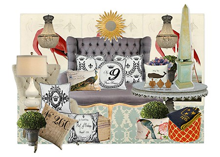 Edward Doyle Olioboards with Euro Chic Pillows for Casart Decor on Slipcovers for your walls, casartblog