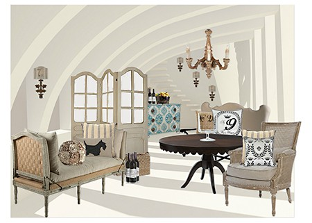 Edward Doyle Olioboards with Euro Chic Pillows for Casart Decor on Slipcovers for your walls, casartbl
